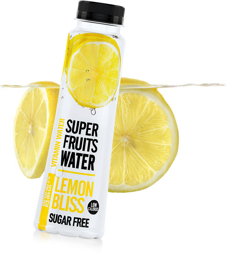 superfruits water LEMON BLISS flavour